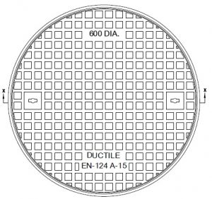 Round concrete manhole cover  DN 600 A 15 KN with locking poklop-600-A15-300x282