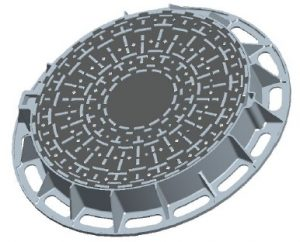 Round lockable manhole cover DN 600 D 400 KN with ventilation poklopDN600D400-300x242