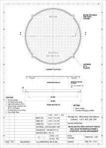 Round concrete manhole cover  DN 600 A 15 KN with locking poklop-kruhový-DN-600-A-15-KN-215x300